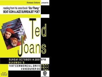 Ted Joans & Laura Corsiglia flyer