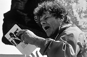 Gregory Corso, Marin Headlands, 1978 © Larry Keenan