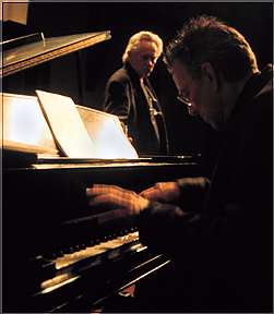 Ray Manzarek & Michael McClure, copyright Larry Keenan, 2000