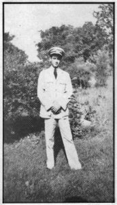 Henri Cru in uniform. Photo courtesy of Yvonne C. Perkins.