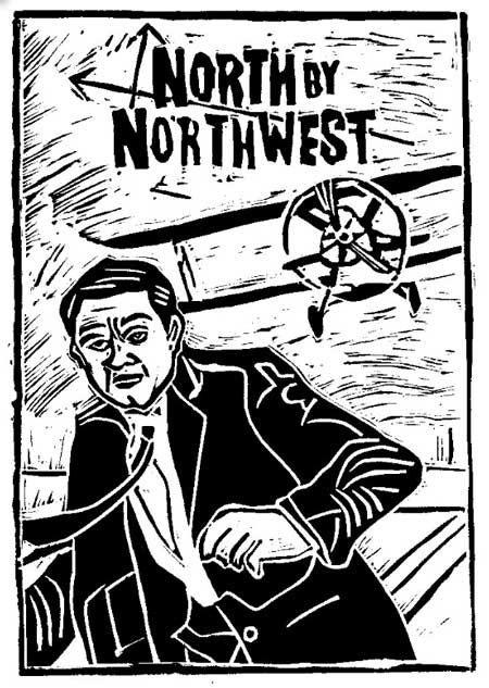 Maguffin / North by Northwest  (copyright Loren Kantor / http://woodcuttingfool.blogspot.com/)