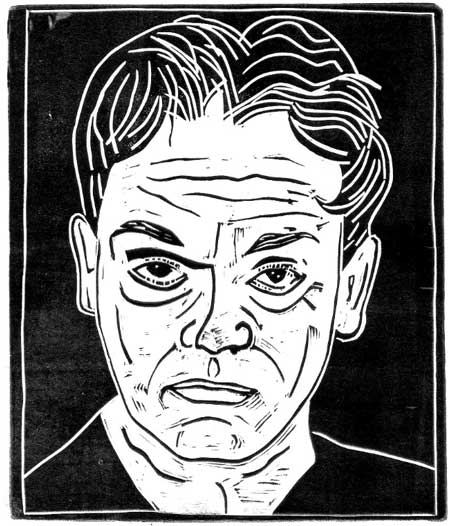 James Cagney (copyright Loren Kantor / http://woodcuttingfool.blogspot.com/)