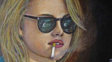 Paintings: Kristen Stewart as Marylou Moriarty in On the Road