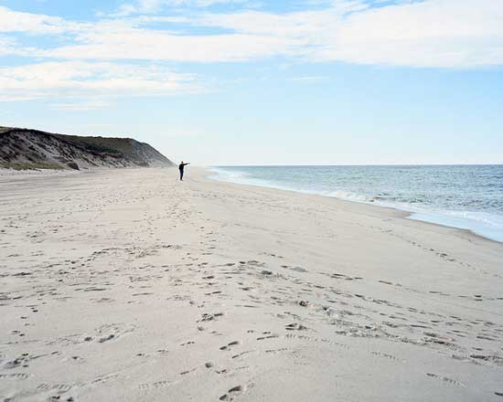 Ballston Beach, Truro, site of shark attack, Summer 2012 / photo by Maggie Shannoon