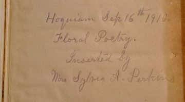 The 1899 Commissioner of the General Land Office meets Sylvia A. Perkins, lover of Floral Poetry