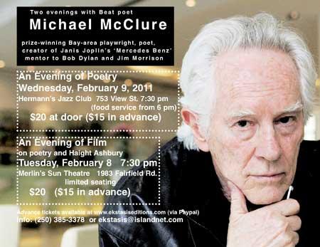 Michael McClure - Victoria BC
