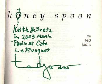 signed copy of Honey Spoon