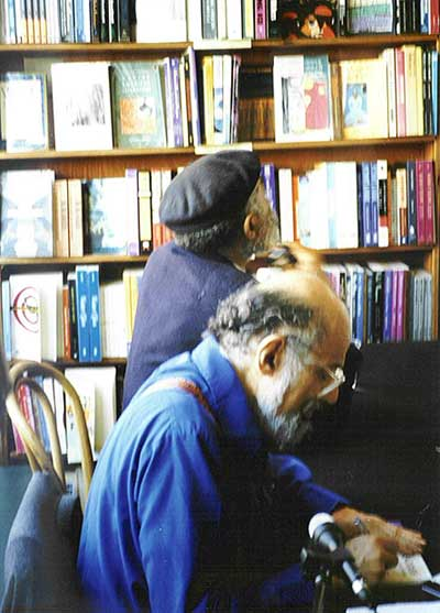Ted Joans and Allen Ginsberg by A.D. Winans