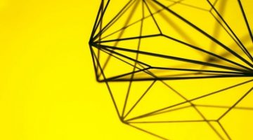 black maze on yellow background