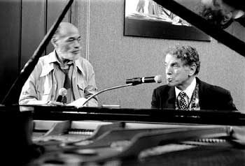 Ted Joans & David Amram, 1994 photo by Bernie Mindich