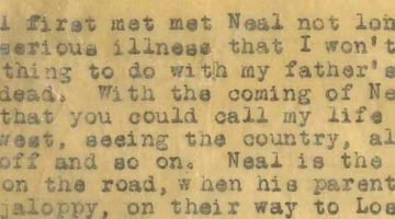 kerouac on the road scroll fragment