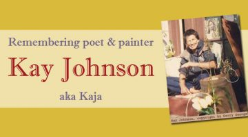 poet and painter Kay Johnson / Beat Hotel resident