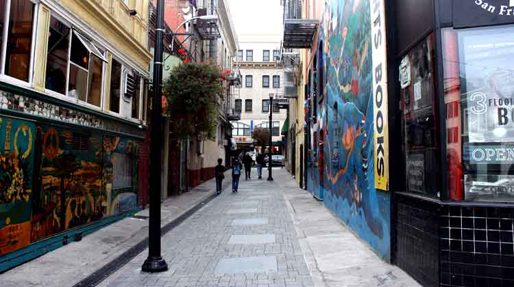 "<a title=""Jack Kerouac Alley"" href=""https://flickr.com/photos/garysoup/3973821788"">Jack Kerouac Alley</a> flickr photo by <a href=""https://flickr.com/people/garysoup"">Gary Soup</a> shared under a <a href=""https://creativecommons.org/licenses/by/2.0/"">Creative Commons (BY) license</a> </small>"