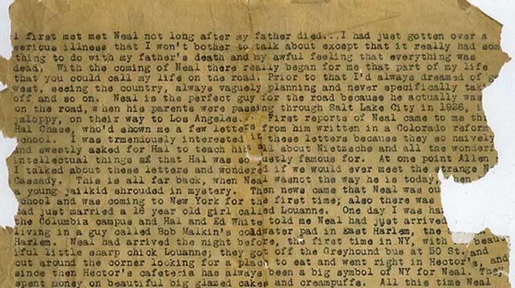 On the Road manuscript scroll - Jack Kerouac