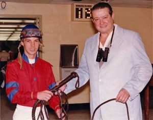 Henri Cru and jockey Jeff Fell, 1978. Photo courtesy of Henri Cru.