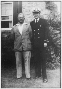 Henri Cru with his father, Professor Albert Louis Cru, 1950. Photo courtesy of Yvonne C. Perkins.
