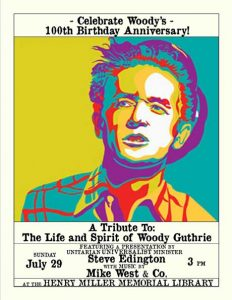 A Tribute to the Life and Spirit of Woody Guthrie – Benefit for the Huntington Disease Society of America, July 29, 2012