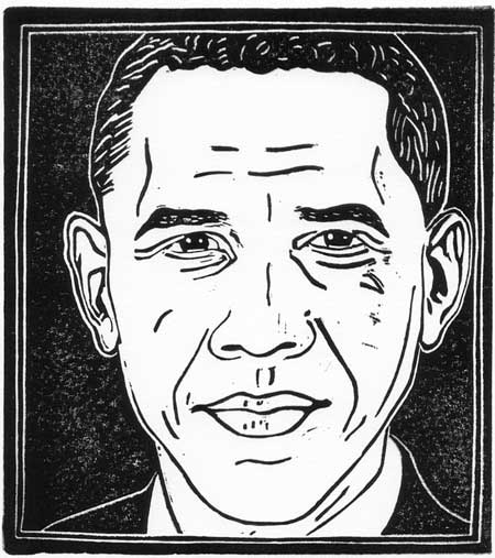 Mr. President (copyright Loren Kantor / http://woodcuttingfool.blogspot.com/)