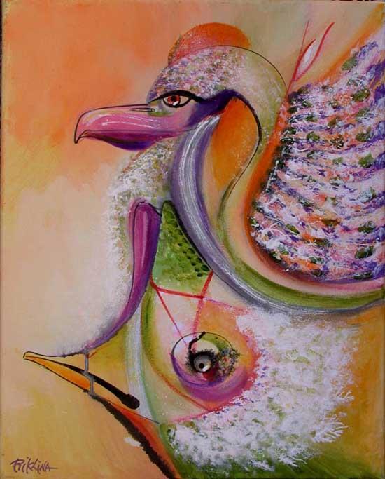 Rik Lina - BILL THEATRE 2011 – acrylic on canvas – 50x40cm.