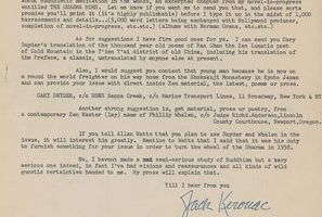1958 Kerouac Letter for Auction!