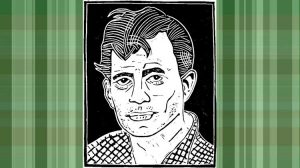 Loren Kantor - Kerouac woodcut and t-shirt