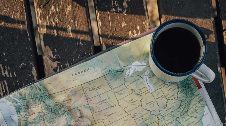 map and coffee / via unsplash
