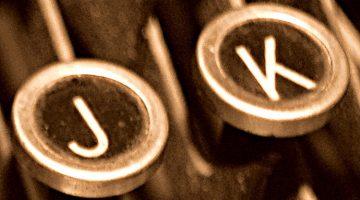 JK - Jack Kerouac typewriter