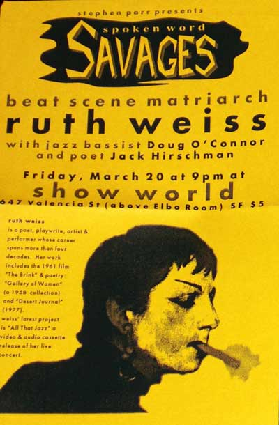 ruth weiss poster