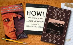 Howl by Allen Ginsberg / Ceremony by Leslie Marmon Silko / Diving into the Wreck by Adrienne Rich.