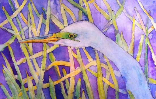 Heron by Gloria Avner
