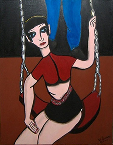 Girl in a Swing by Weldon Sandusky