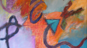 7 Abstract Paintings by Alec Clayton