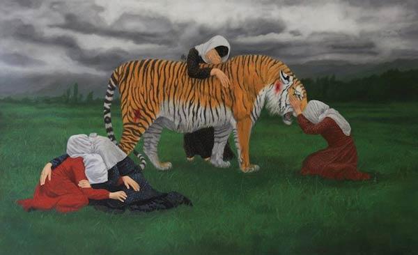 Caspian Tiger by Naeemeh Naeemaei