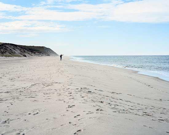Ballston Beach, Truro, site of shark attack, Summer 2012 / photo by Maggie Shannoon