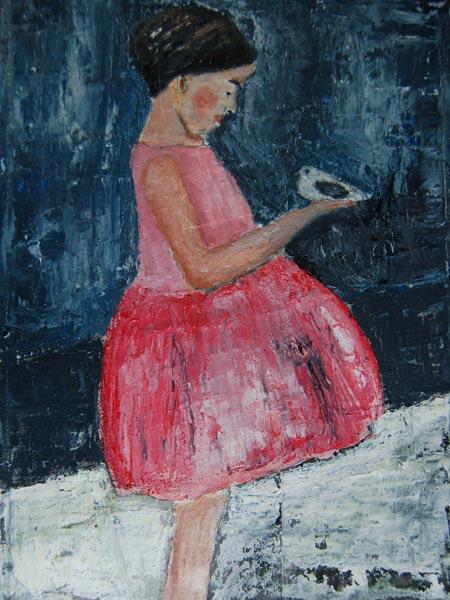 Pink Party Dress by Katherine Jeanne Wood