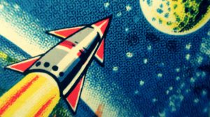 Rocket Ship Mural