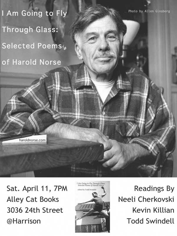 Harold Norse Selected Poems reading April 2015