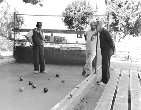 Old Italian playing Bocce Ball, Aquatic Park, San Francisco, 2002