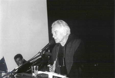 Poet Michael McClure, New College, San Francisco, 2002