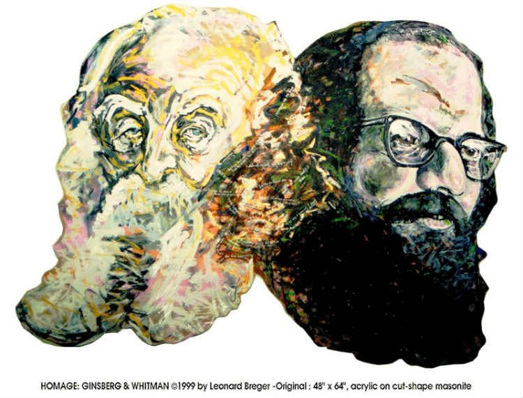 Homage: Ginsberg and Whitman by Leonard Breger