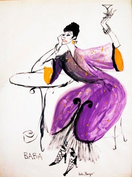 Baba. Illustration by Helen Breger for The Actors Workshop program