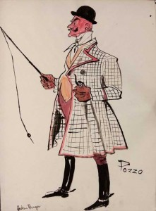 Pozzo. Illustration by Helen Breger for The Actors Workshop program