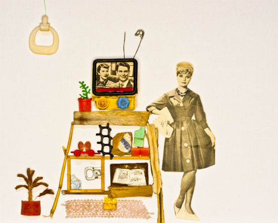 Woman with TV - Elza Zijlstra