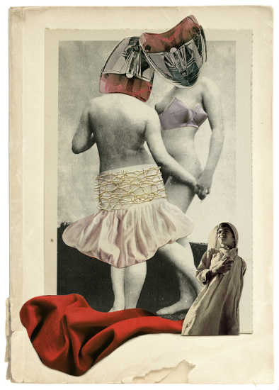 Sisters - collage by Rebeka Elizegi