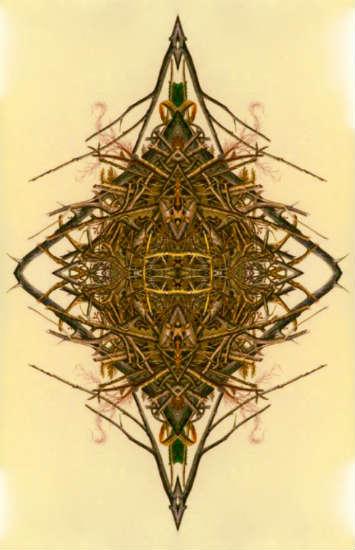 The Awakening of Sunburnt Silk -- Bill Wolak collage