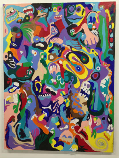 Barry Johnson - Laughs painting