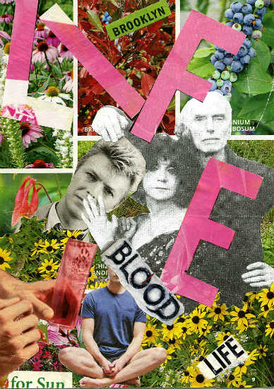 Steve Dalachinsky mail art collage 1