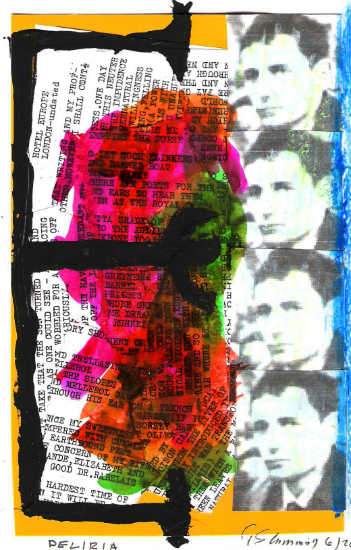 Deliria - collage by Gary Cummiskey