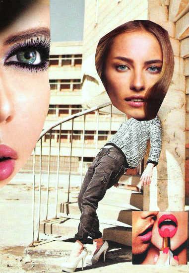 Forbidden steps - collage by Gary Cummiskey