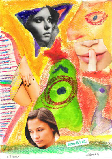 Love & lust - collage by Gary Cummiskey